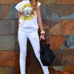 Yaz ve Kış Beyaz Jean Kombini