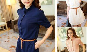 Düğmeli Bol Bayan Gömlek Modelleri