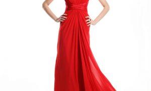 Kırmızı Renkli Gece Elbise Modelleri