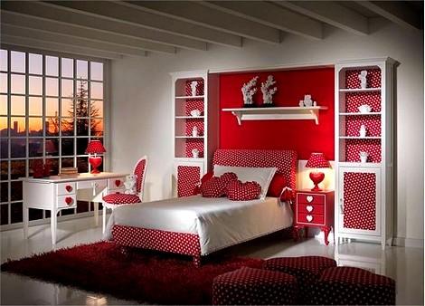 kırmızı-renk-genç-odası-modelleri