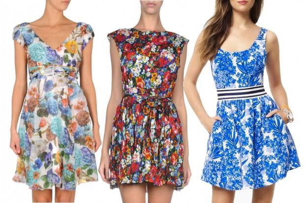 cicek-desenli-elbise-modelleri