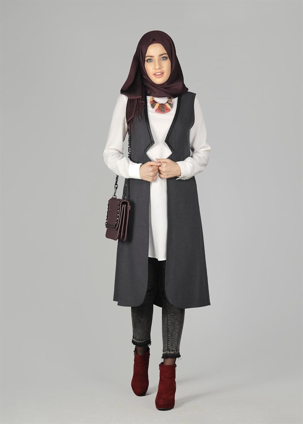 f4330427a4d86 Alvina Giyim Tesettür Elbise Modelleri 2017-2018   Moda Sitesi ...